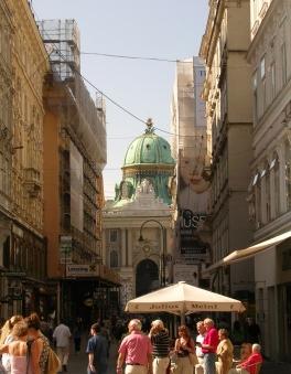 Rue Kohlmarkt avec le Palais Impérial Hofburg - Vienne