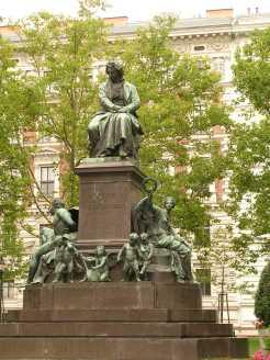 Monument Ludwig Van Beethoven à Beethovenplatz - Vienne
